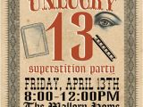 Friday the 13th Birthday Party Invitations Items Similar to Friday the 13th Superstition Party On Etsy