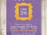Friends themed Party Invitations Friends theme Birthday Invitation Friends by Willowbluedesigns