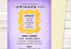Friends themed Party Invitations Unique Bridal Showers A Friends Tv Show Central Perk