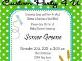 Frog Baby Shower Invites Cute Frog Baby Shower Invitation for Boys or Girls by