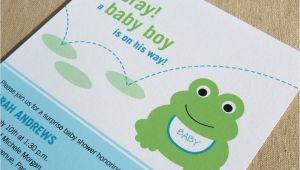 Frog Baby Shower Invites Frog Baby Shower Invitation Printable Baby Shower Invitation