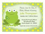 Frog Baby Shower Invites Frog Baby Shower Invitation Zazzle Com