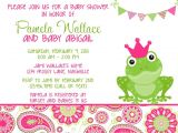 Frog Baby Shower Invites Frog Pink Green Paisley Baby Shower Invitation Girl