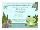 Frog Baby Shower Invites Hippity Frog Baby Shower Invitation Turtle Snail Zazzle Com