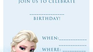Frozen Birthday Invitations Printable 20 Frozen Birthday Party Ideas