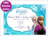 Frozen Birthday Invitations Printable Free 9 Best Of Frozen Birthday Invitations Editable