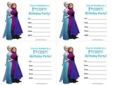 Frozen Birthday Invitations Printable Free Frozen Birthday Invitations Free Printable