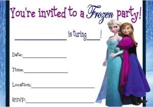 Frozen Birthday Party Invitations Printable 9 Best Images Of Frozen Birthday Invitations Printable