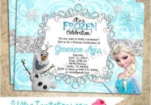 Frozen Birthday Party Invitations Printable Disney Frozen Olaf Elsa Birthday Invitations Printable