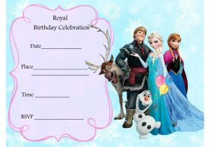 Frozen Birthday Party Invitations Printable Free Frozen Party Invitations Frozen Party Pinterest