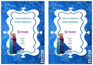 Frozen Birthday Party Invitations Printable Frozen Birthday Invitations Birthday Printable