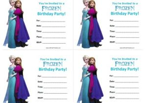 Frozen Birthday Party Invitations Printable Frozen Birthday Invitations Free Printable