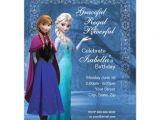 Frozen Customized Birthday Invitations Frozen Anna and Elsa Snowflake Birthday Invitation 4 25 Quot X