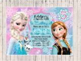 Frozen Customized Birthday Invitations Frozen Birthday Invitation Custom Design by
