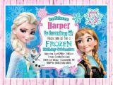Frozen Customized Birthday Invitations Frozen Birthday Invitation Digital Copy by Poshpaisleyboutique
