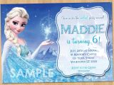 Frozen Customized Birthday Invitations Frozen Birthday Invitation Elsa Frozen Invitation