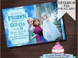 Frozen Customized Birthday Invitations Frozen Printable Invitation Custom Frozen Invitation for