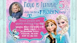 Frozen Customized Birthday Invitations Items Similar to Frozen Birthday Invitation Custom