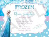 Frozen Electronic Birthday Invitation Digital Frozen Birthday Invitations Party Invitations Ideas