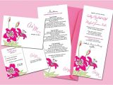 Full Wedding Invitation Sets sohl Design Stargazer Lily Wedding Invitation Set