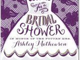 Fun Bridal Shower Invitations Dressed for Fun Signature White Bridal Shower