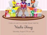 Fun Bridal Shower Invitations Fun Bridal Shower Invitation African American Girls