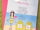 Fun Bridal Shower Invitations Stick Fun Beach themed Bridal Shower Invite L Pj Greetings