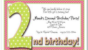 Funny 2nd Birthday Invitation Wording 2nd Birthday Invitation Wording Ideas Bagvania Free