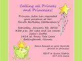 Funny 2nd Birthday Invitation Wording Princess theme Birthday Party Invitation Custom Wording
