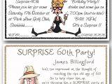 Funny 60th Birthday Party Invitations Personalised Surprise Birthday Party Invitations 30th 40th