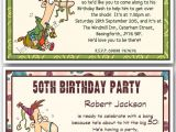 Funny 70th Birthday Invitation Wording 30th 40th 50th 60th 70th 80th Personalised Funny Birthday