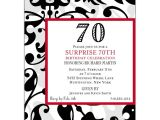 Funny 70th Birthday Invitation Wording Fun Faux Flocked 70th Birthday Invitations Paperstyle