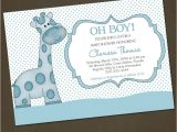 Funny Baby Shower Invite Template Funny Giraffe Baby Shower Invitation Wording Template