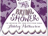 Funny Bridal Shower Invites Dressed for Fun Signature White Bridal Shower