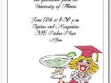 Funny College Graduation Party Invitation Wording Blonde Girl Margarita Graduation Party Party Invitations