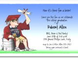 Funny College Graduation Party Invitation Wording College Grad Keg Party Invitation Fun Graduation Party
