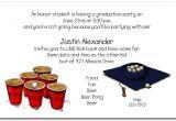 Funny College Graduation Party Invitation Wording Graduation Party Invitation Beer Pong and Grad Hat Invitation