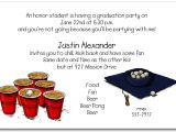 Funny College Graduation Party Invitation Wording Graduation Party Invitation Beer Pong and Grad Hat Invitation