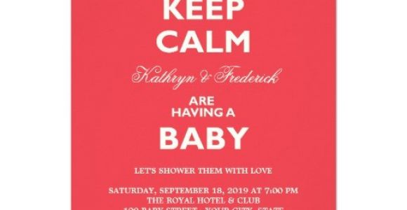 """Funny Couples Baby Shower Invitations Keep Calm Funny Couples Baby Shower Party Invite 4 5"""" X 6"""