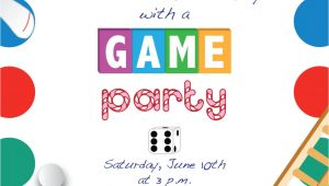 Game Night Party Invitation Template Printable Game Night Party Invitation