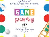 Game Night Party Invitations Printable Game Night Party Invitation