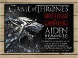 Game Of Thrones Birthday Party Invitations Game Of Thrones Invitation Game Of Thrones Birthday Party