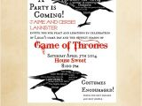 Game Of Thrones Birthday Party Invitations Game Thrones Party Invitation