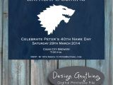 Game Of Thrones Birthday Party Invitations Items Similar to Printable Game Of Thrones Birthday Party
