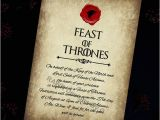 Game Of Thrones Dinner Party Invitation Game Of Thrones Invitation Game Of Thrones Printable