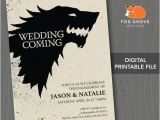 Game Of Thrones Party Invitation Engagement Party Invitation Game Of Thrones Quot Wedding is