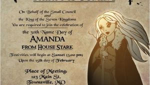 Game Of Thrones Party Invitation Game Of Thrones Party