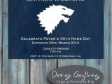 Game Of Thrones Party Invitation Printable Game Of Thrones Birthday Party Invitation G O