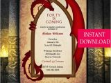 Game Of Thrones Party Invitation Template Game Of Thrones Inspired Dragon Invitation Dragon Invitation