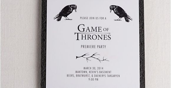 Game Of Thrones Premiere Party Invitation Game Of Thrones Inspired Premiere Party Invitations Tv Show